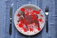 Zebras also on a plate?