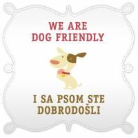 'Dog Friendly' sticker
