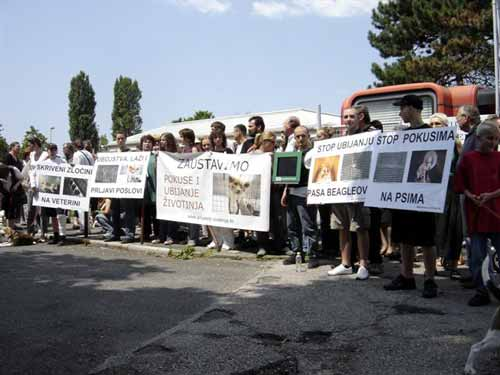 Protest in front of the Faculty of Veterinary Medicine 6