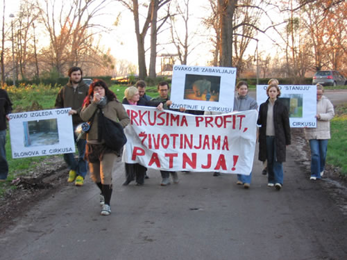 Protest against G�rtner in Osijek 1