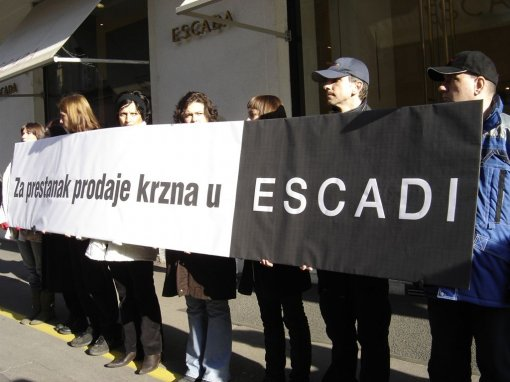 Protest in front of ESCADA 1 [ 112.83 Kb ]