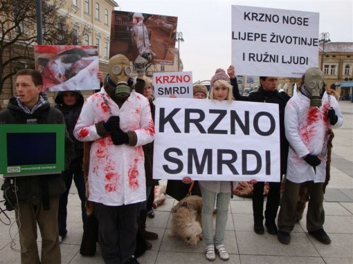 Anti-fur action in Slavonski Brod 1 [ 109.97 Kb ]
