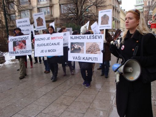Demo against fur in Sarajevo 5 [ 108.33 Kb ]