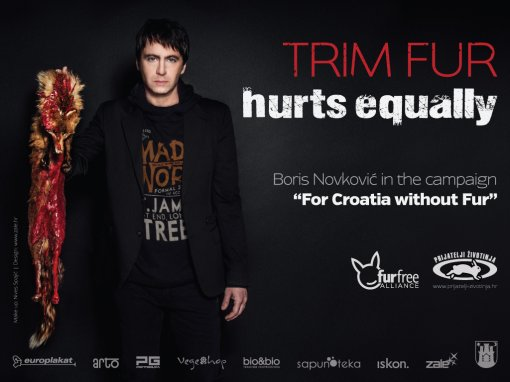 "Boris Novkovic plakat ""Trim Fur Hurts Equally"" [ 505.80 Kb ]"