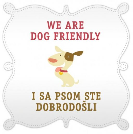 'Dog Friendly' sticker